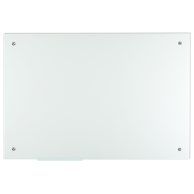 Lockways Glass Dry Erase Board – Ultra Whiteboard/White Board 36 x 24, Frameless, Clear Marker Tray, for Office, Home, School