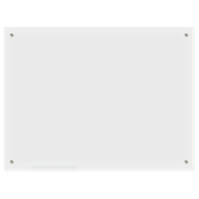 "Lockways Glass Dry Erase Board – Glass Board, Whiteboard/White Board 48"" x 36"", Frosted Surface, Frameless, Clear Marker Tray, Wall-Mounted Whiteboard for Office, Home, School"