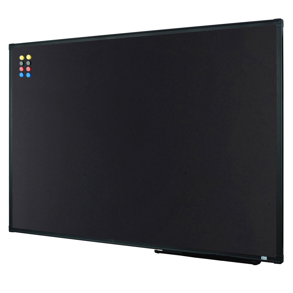 Lockways Magnetic Chalkboard Black Board - 36 X 24 Inch Magnetic Bulletin Blackboard 3 x 2, Black Aluminium Frame U10732782603 for Home, School & Office (Set Including Aluminum Pentray & 8 Magnets)