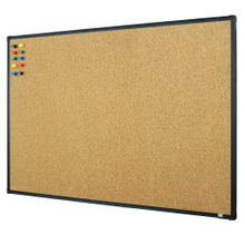 "Lockways Bulletin Cork Board - 3 x 2 Notice Board 36 x 24, Ultra-Slim Black Aluminium Frame U12118782609 for Home, School & Office (Set Including 10 Push Pins) (36 x 24"", Black)"
